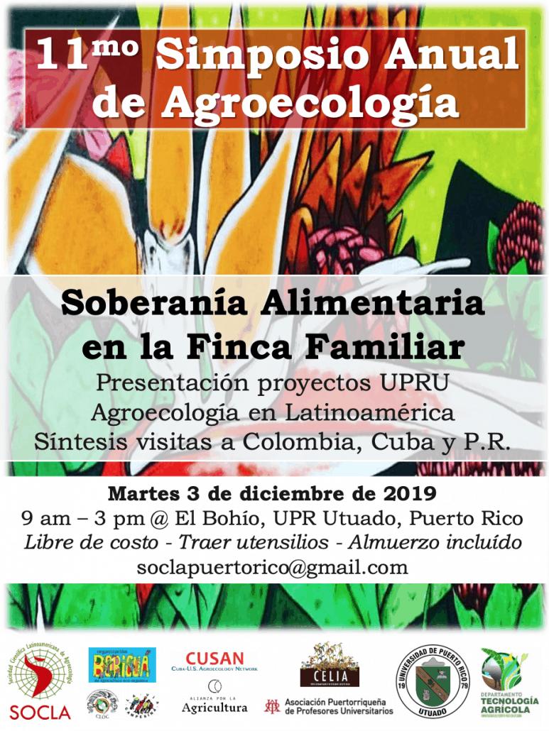 11mo Simposio Anual de Agroecologia